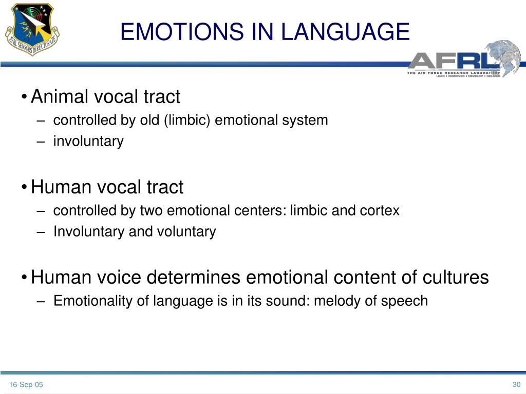 EMOTIONS IN LANGUAGE
