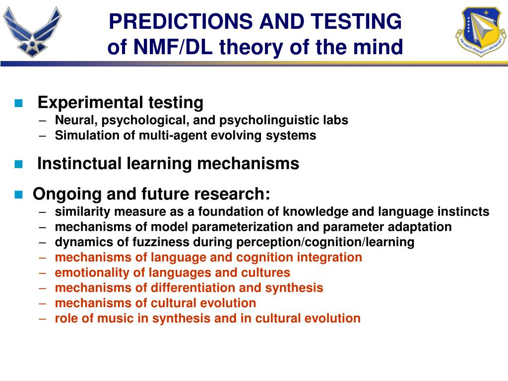 PREDICTIONS AND TESTING