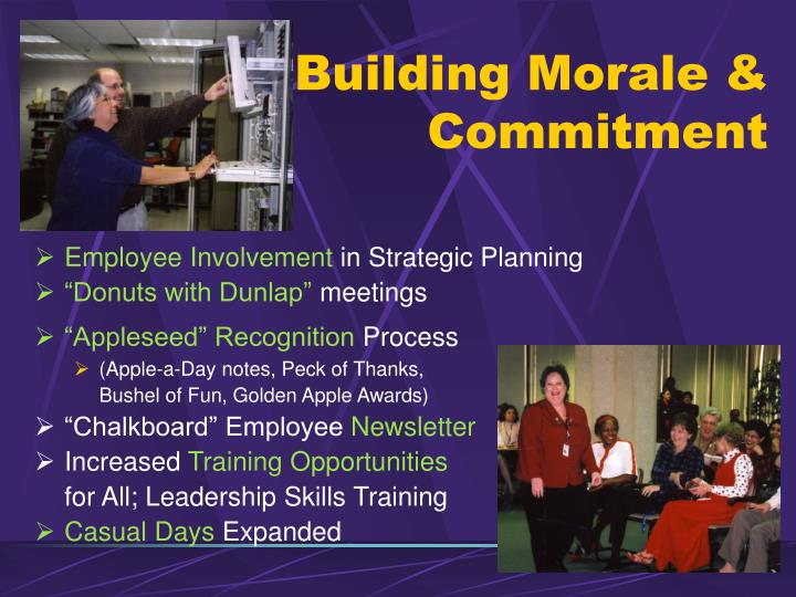 Building Morale & Commitment