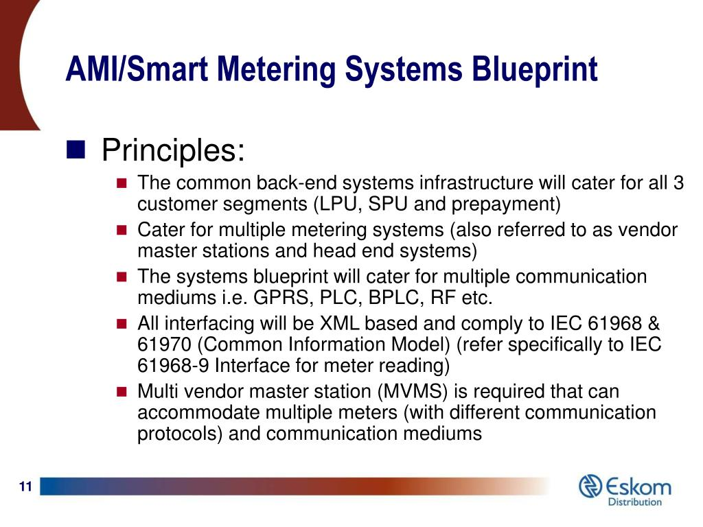 AMI/Smart Metering Systems Blueprint
