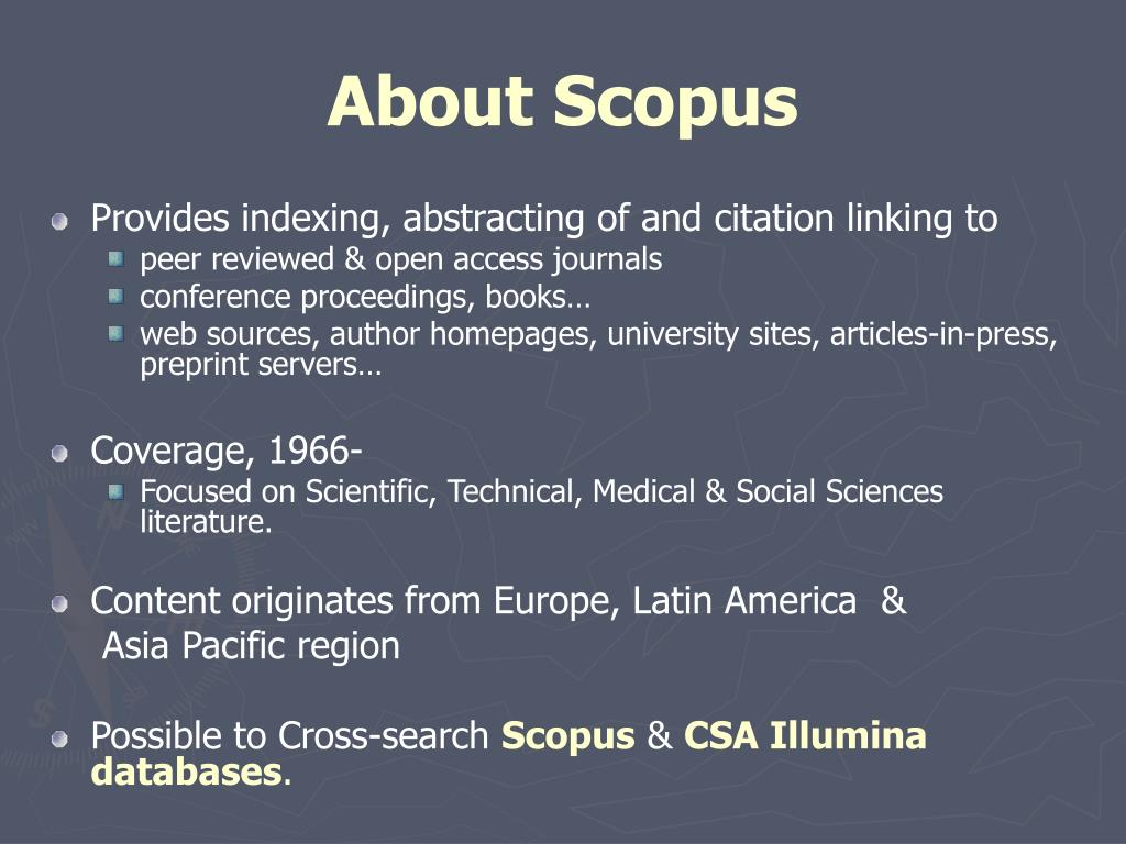About Scopus