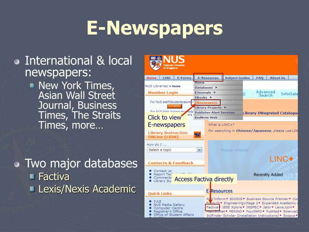 E-Newspapers