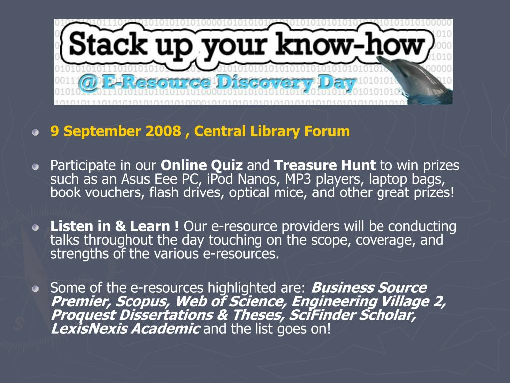 E-resource day