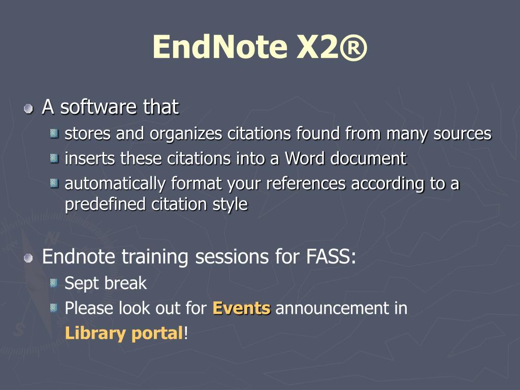 EndNote X2®