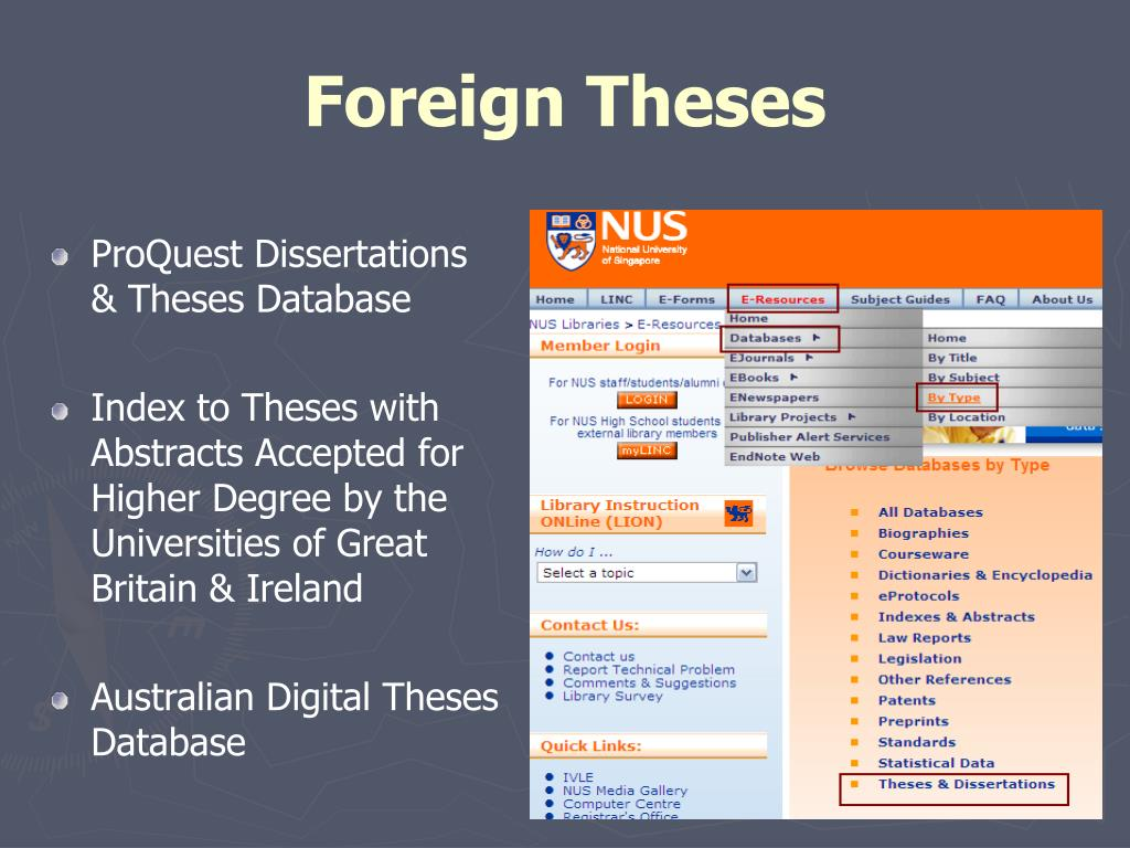 Foreign Theses