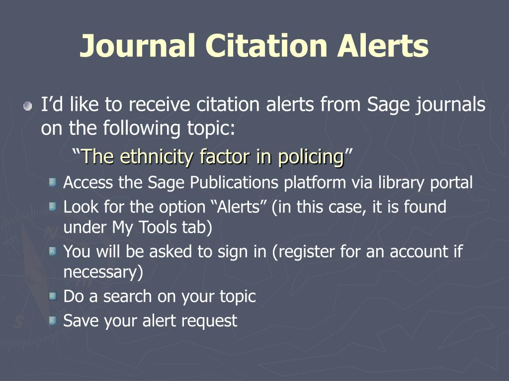 Journal Citation Alerts