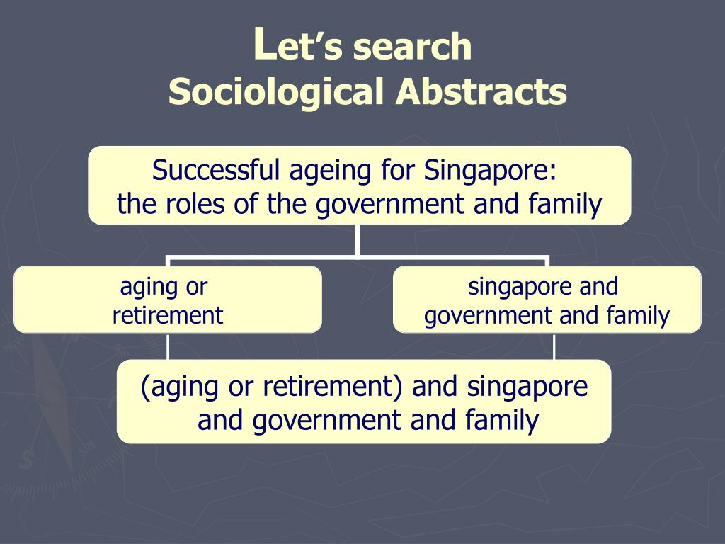 (aging or retirement) and singapore