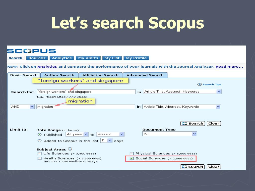 Let's search Scopus