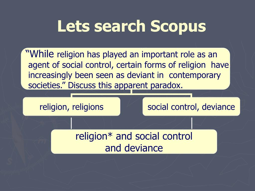 religion* and social control