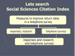 lets search social sciences citation index31