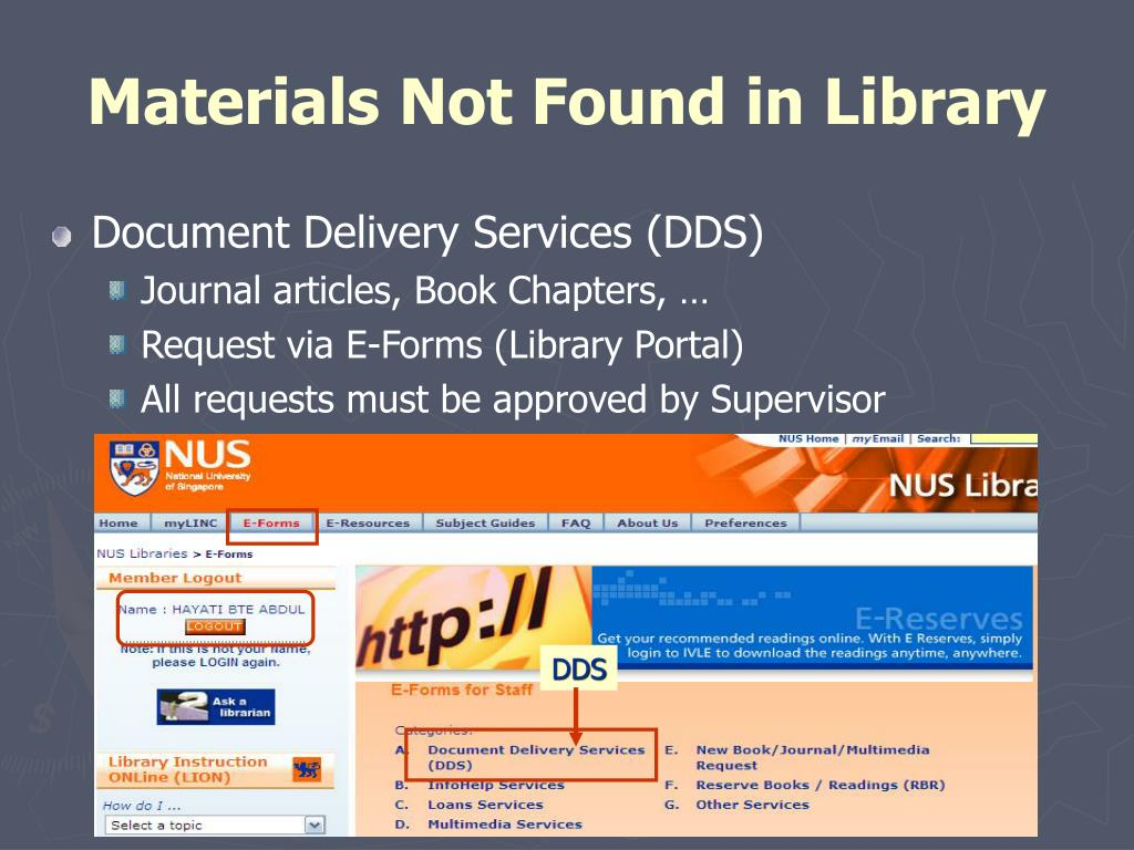 Materials Not Found in Library