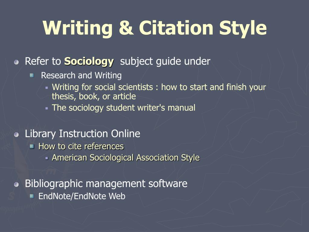 Writing & Citation Style