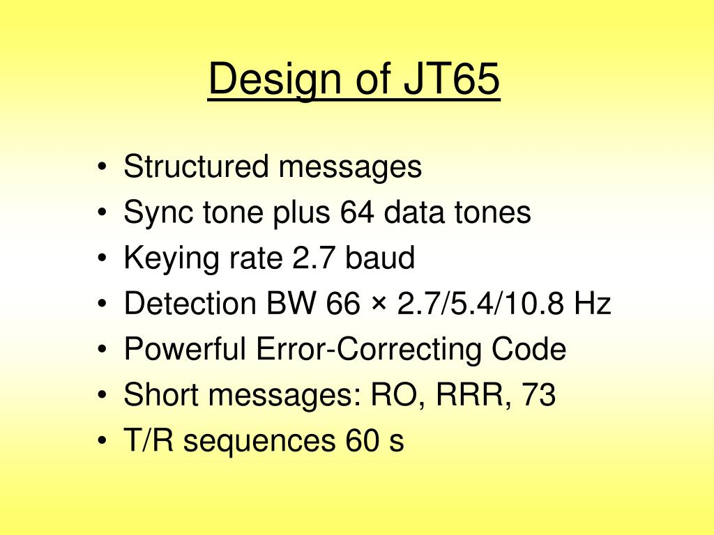 Design of JT65