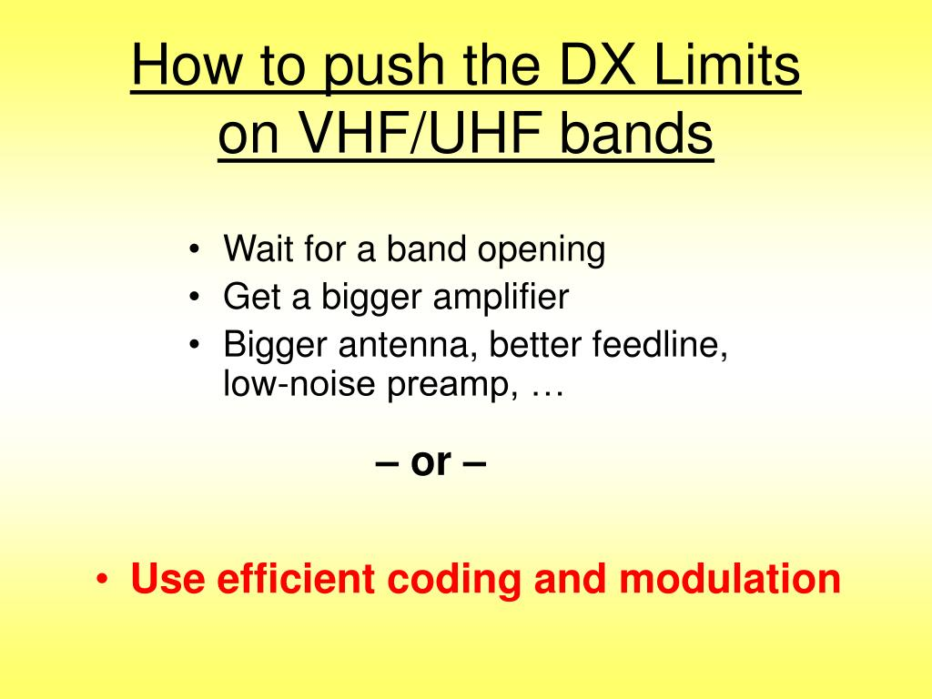 How to push the DX Limits
