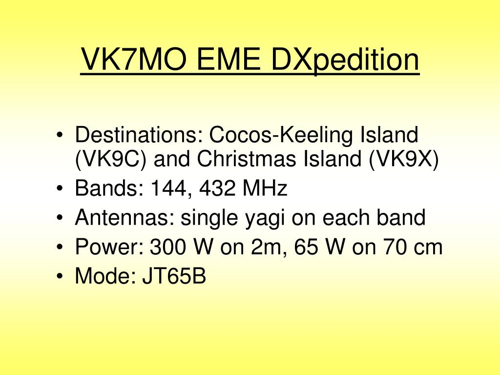 VK7MO EME DXpedition