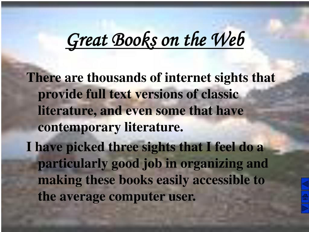Great Books on the Web