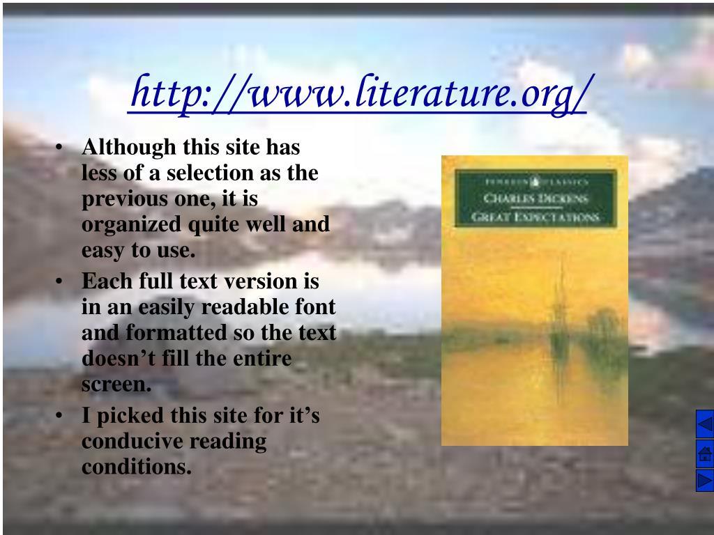 http://www.literature.org/