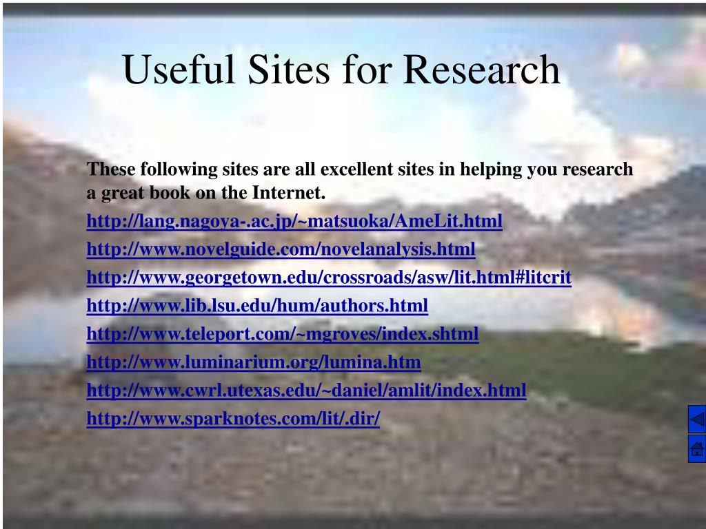Useful Sites for Research