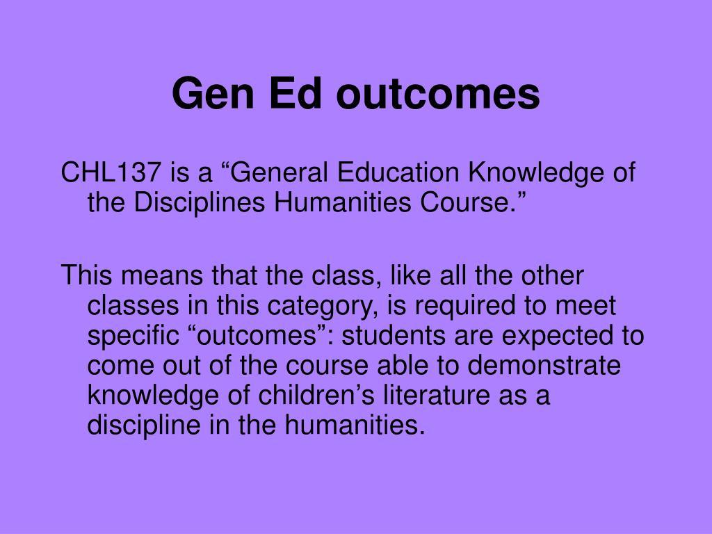 Gen Ed outcomes