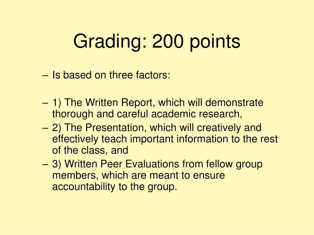 Grading: 200 points
