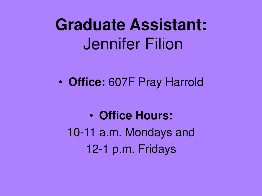 Graduate Assistant: