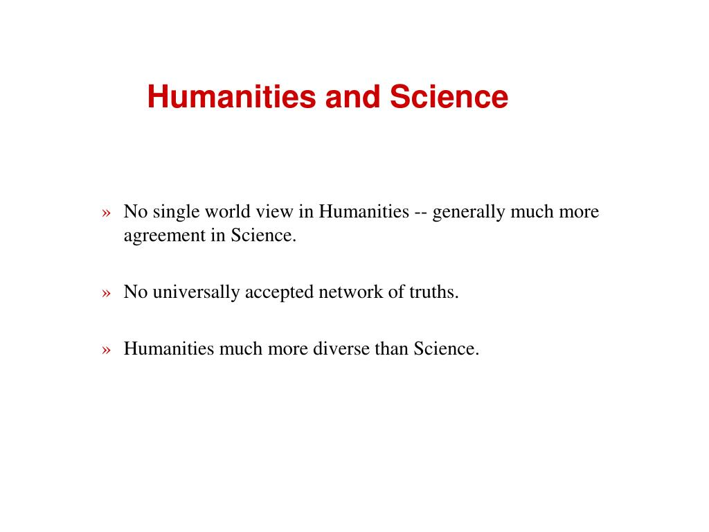 Humanities and Science
