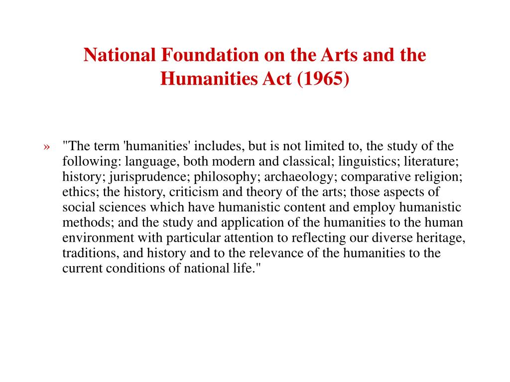 National Foundation on the Arts and the Humanities Act (1965)