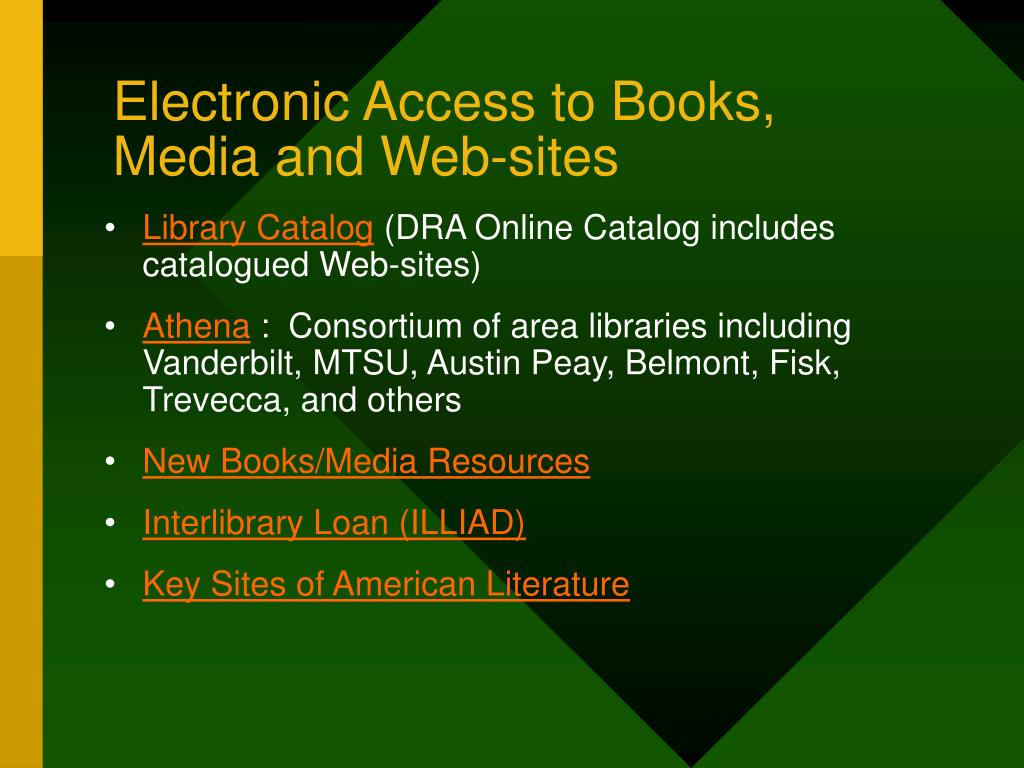 Electronic Access to Books,