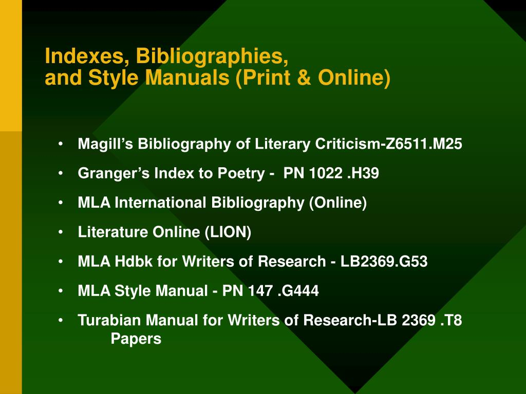 Indexes, Bibliographies,