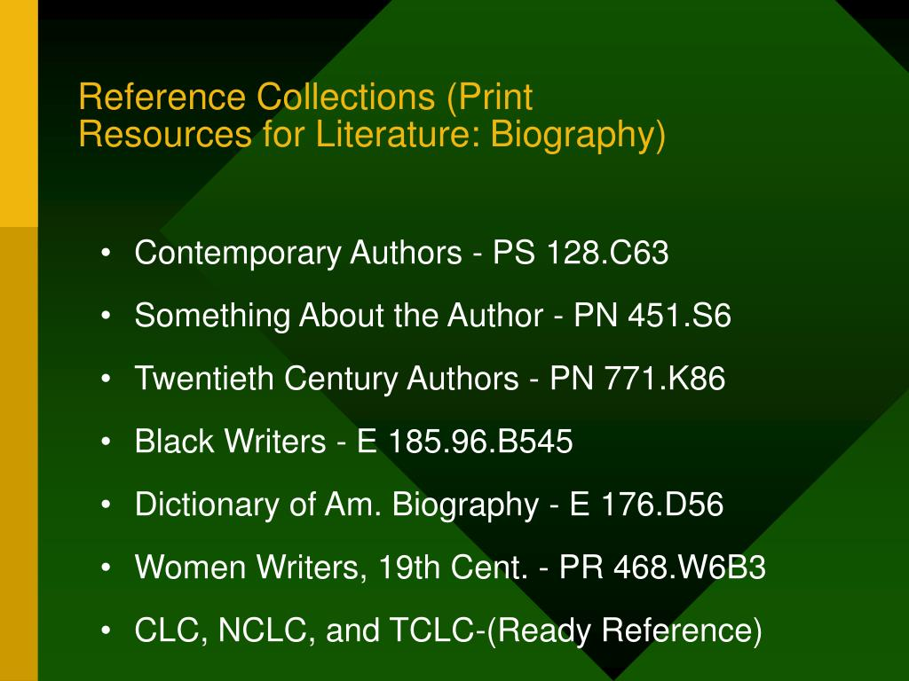 Reference Collections (Print