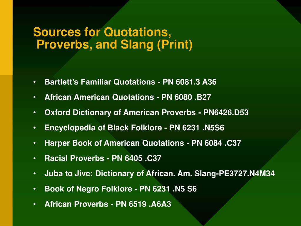 Sources for Quotations,