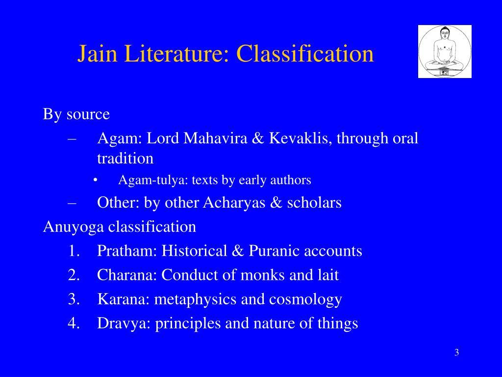 Jain Literature: Classification
