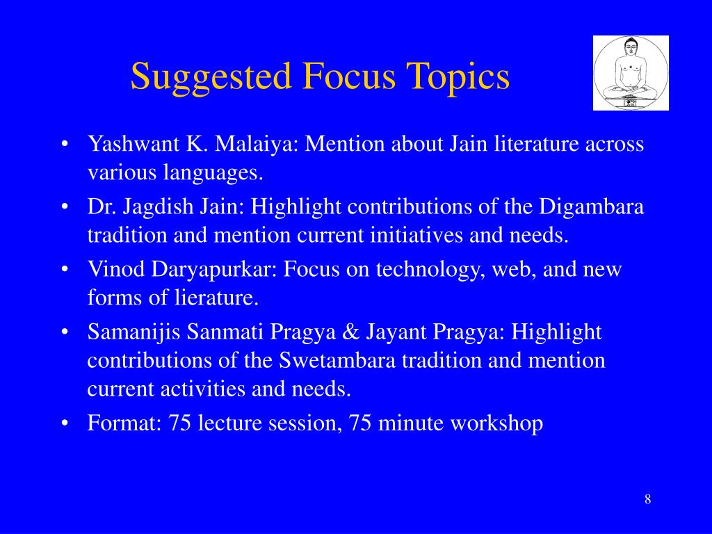 Suggested Focus Topics