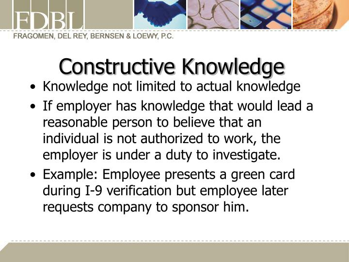 Constructive Knowledge