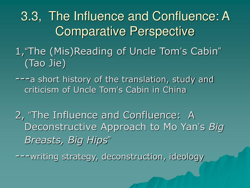 3.3,  The Influence and Confluence: A Comparative Perspective
