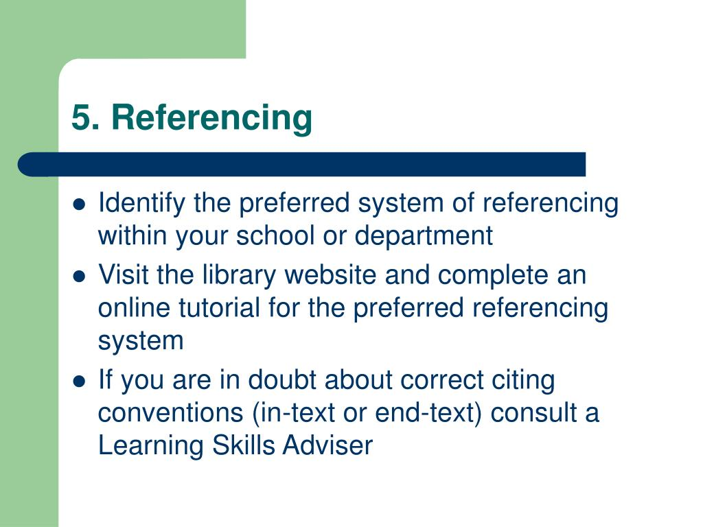 5. Referencing