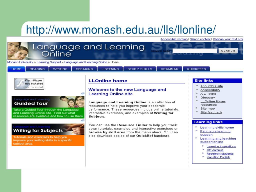 http://www.monash.edu.au/lls/llonline/