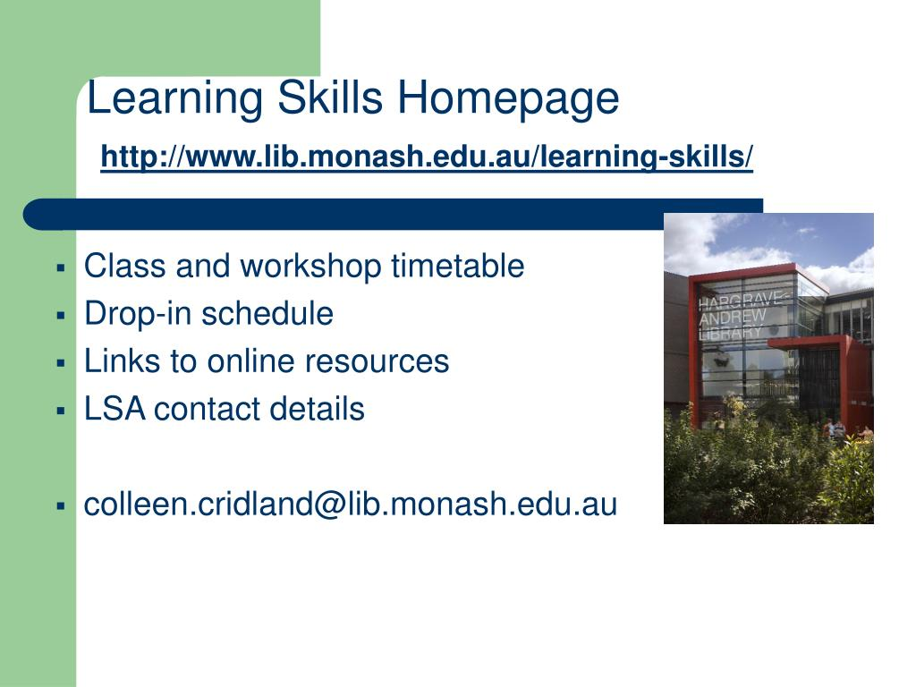 Learning Skills Homepage