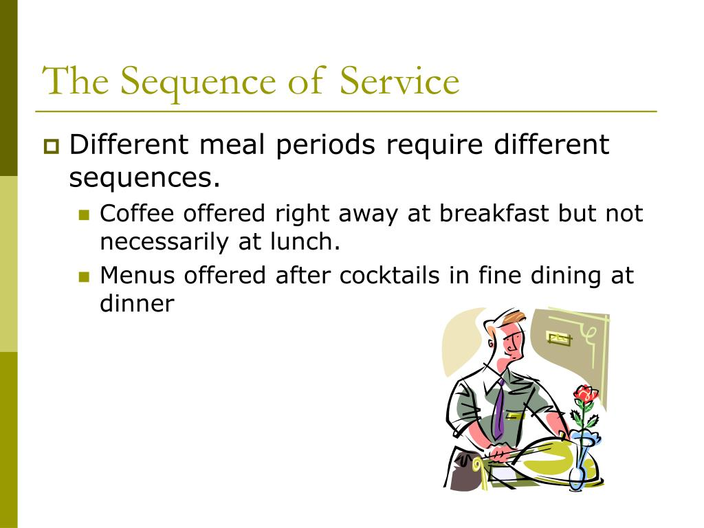 The Sequence of Service