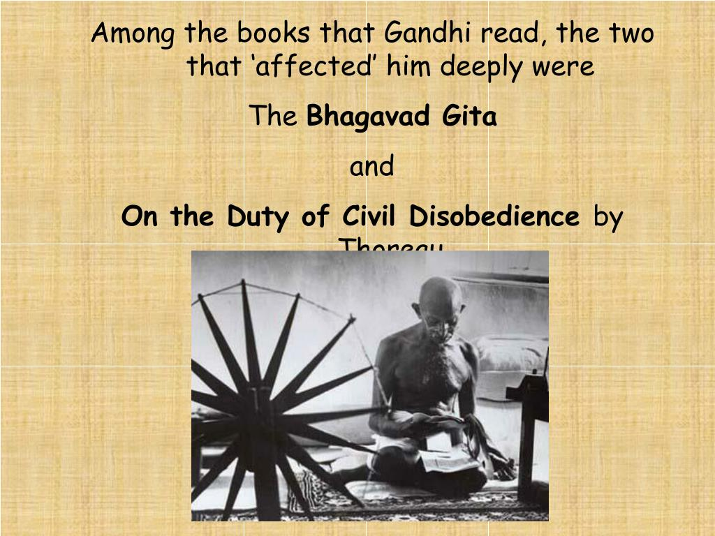 Among the books that Gandhi read, the two that 'affected' him deeply were
