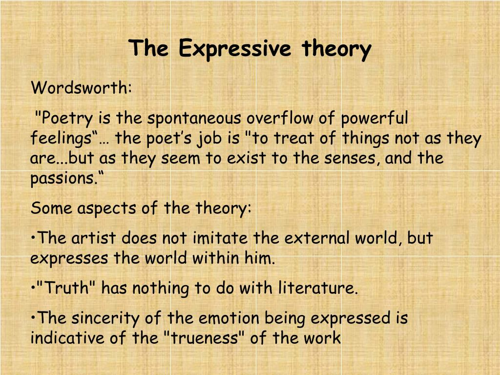 The Expressive theory