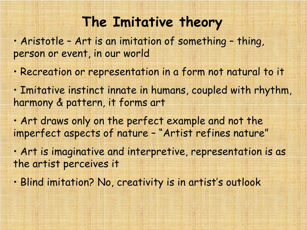 The Imitative theory