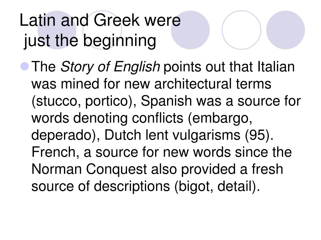 Latin and Greek were
