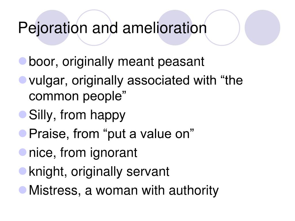 Pejoration and amelioration