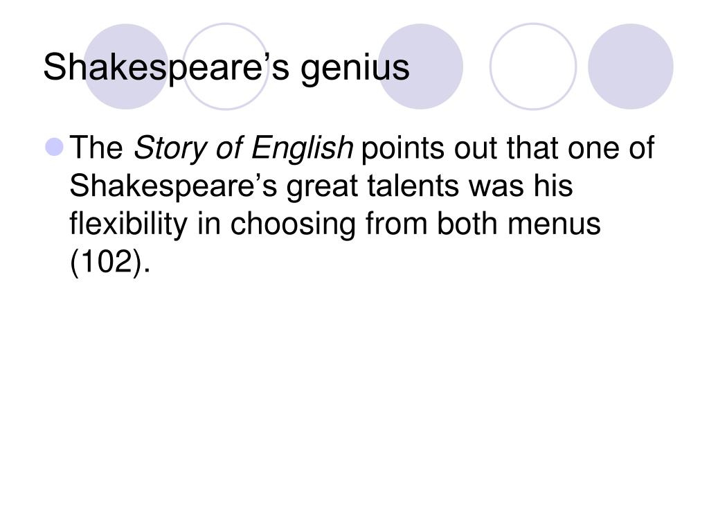 Shakespeare's genius
