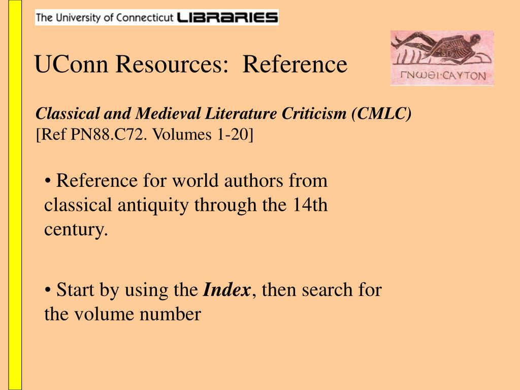 UConn Resources:  Reference