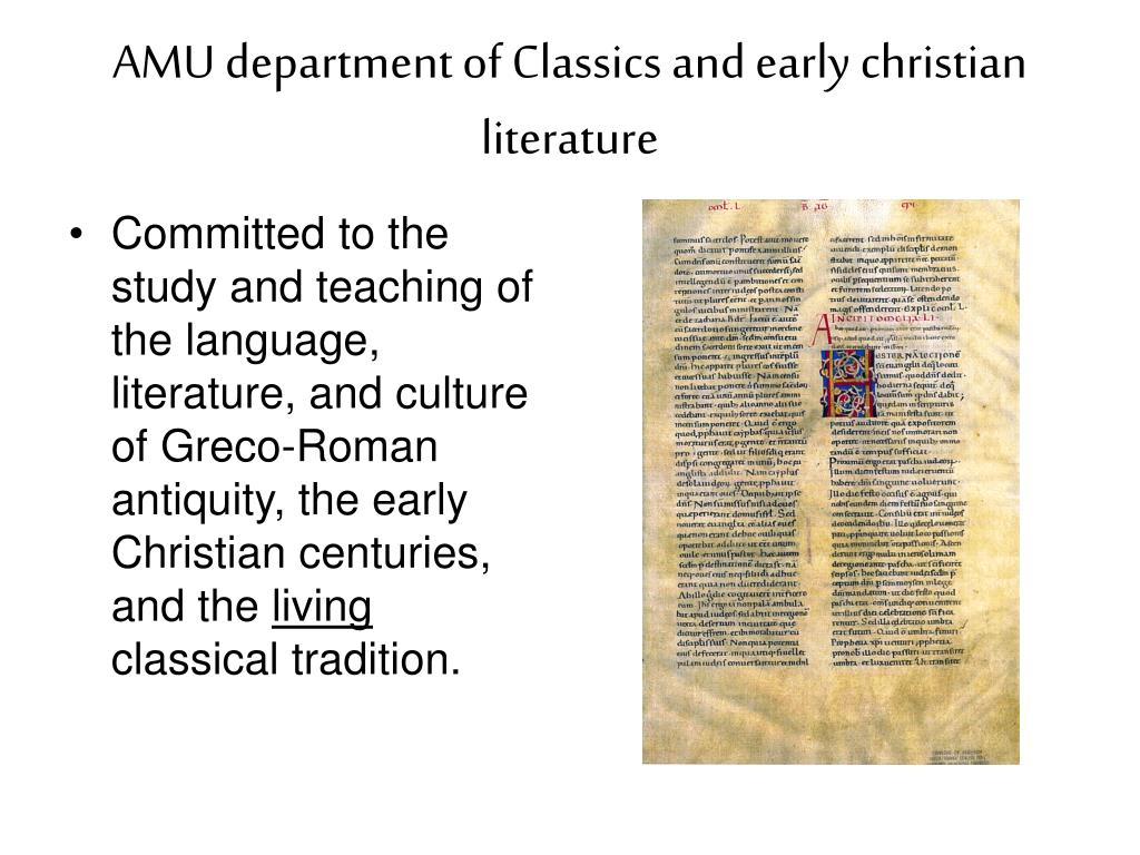 AMU department of Classics and early christian literature