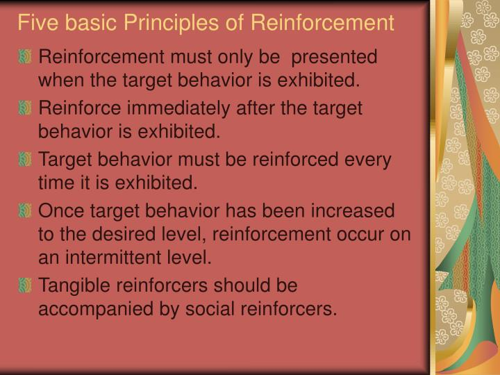 Five basic Principles of Reinforcement