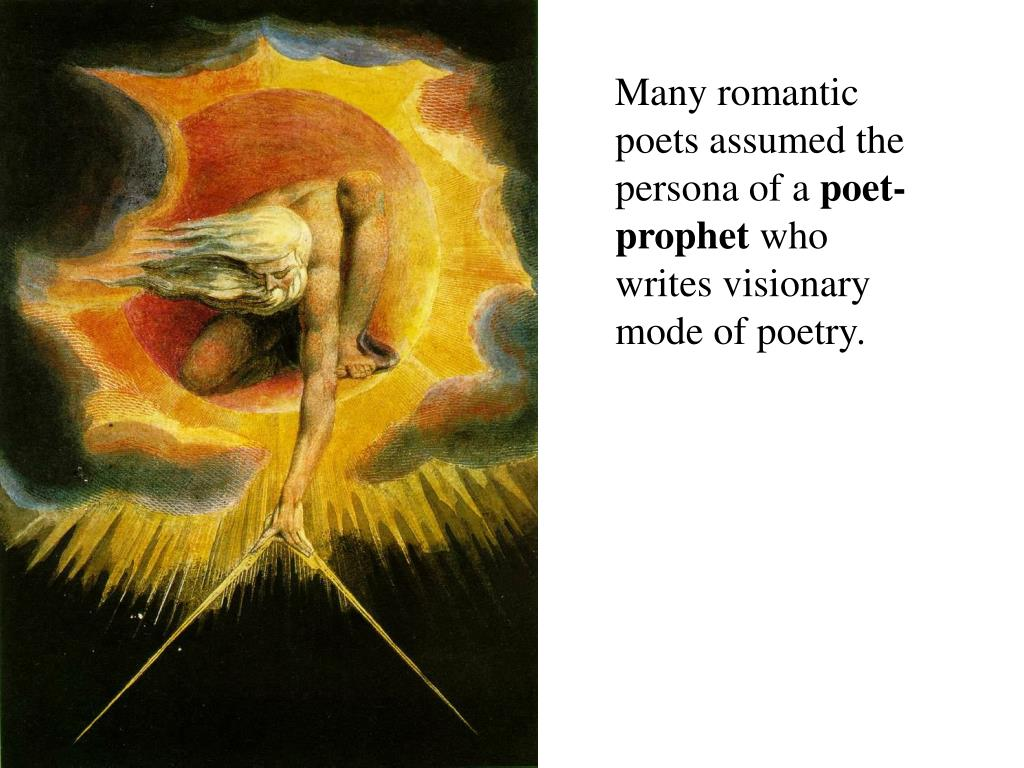 Many romantic poets assumed the persona of a
