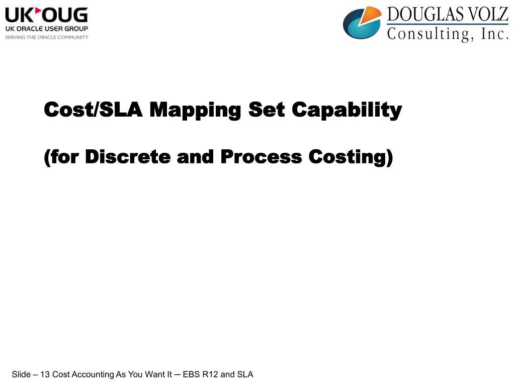 Cost/SLA Mapping Set Capability